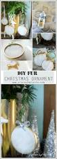 ornament diy using faux fur for the holiday season