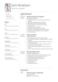 Profile Section Of Resume Example by Mechanical Engineer Cv Examples And Template