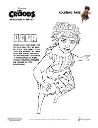 the croods u0027ugga u0027 coloring page enter to win a blu ray dvd u0026 belt