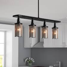 light for kitchen island alcott hill clay 4 light kitchen island pendant reviews wayfair
