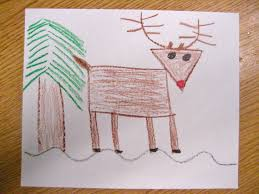 reindeer guided drawing dec holidays pinterest