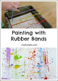 painting with rubber bands fun process art for kids band fun