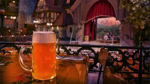 German Beer Garden Table by Biergarten Restaurant Walt Disney World Resort