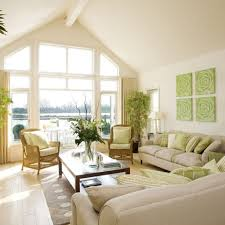 decorative green floral painting for elegant living room ideas