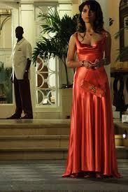 caterina murin elegant sleeveless red satin evening gown movie