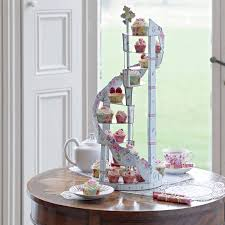 cup cake stands spiral cupcake stand by bunting barrow notonthehighstreet