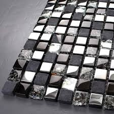 Metallic Tile Backsplash by Metal U0026 Glass Backsplash Diamond Crystal Tile Crackle Mosaic Marble