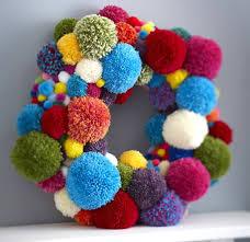 25 unique pom pom wreath ideas on pom poms yarn pom