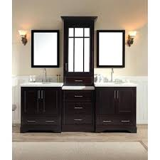 double sink vanity with middle tower double sink vanity double sink vanity set in espresso w center