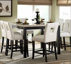 dining room fabulous white round dining table set black and