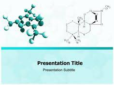 free science ppt template with an organic structure in the title