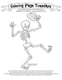 dulemba coloring tuesday skeleton