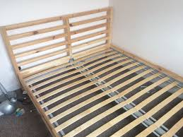 ikea tarva wooden double bed frame with or without mattress in