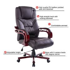 High Quality Office Chairs Desk Chairs Brown Office Chair No Arms Leather Chairs Uk High