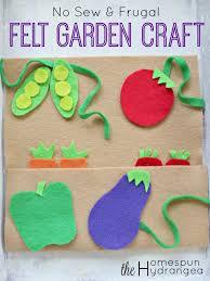 Garden Crafts For Children - craft your own felt garden for kids to enjoy this summer season