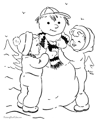 snowman christmas coloring pages 008
