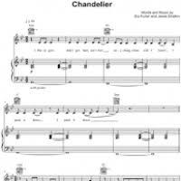 Chandelier Sia Piano Sheet Music Chandelier Chords Gm Thesecretconsul Com