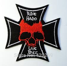 german iron cross medal ww2 valor war biker skull