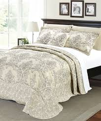 Damask Bedding Damask Embroidered Quilted Bedspread Set Bnf Home Inc