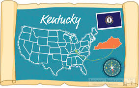 usa map kentucky state us state maps clipart scrolled usa map showing kentucky state map