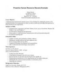 Resume Objective Statements Sample by Download Hr Resume Objective Haadyaooverbayresort Com