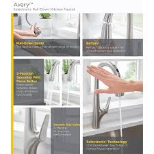 choosing a kitchen faucet avery selectronic hands free pull down kitchen faucet american