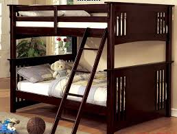 Over Full Bunk Bed Mission Rustic Solid Wood Dark Walnut - Solid wood bunk bed