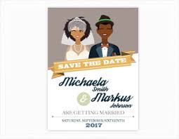 Digital Save The Date Customizable African American Save The Date Invitation