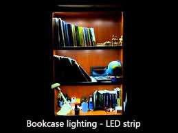 bookcase lighting led strip youtube