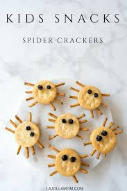 easy spider crackers halloween snacks for kids la jolla mom