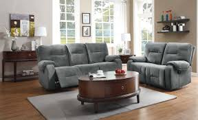 homelegance bensonhurst power reclining sofa set blue grey