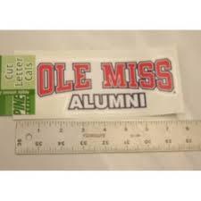 ole miss alumni sticker for the fan 3 sporting goods