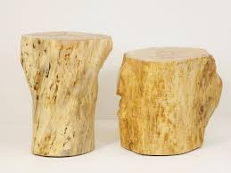 Tree Stump Nightstand Wood Stump Stool Clone Tree Trunk Bedside Stump Table Natural