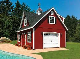 Carport Attached To Garage Built On Site Custom Amish Garages In Oneonta Ny Amish Barn Company