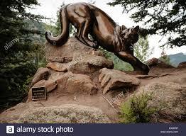 mountain lion statue decorative mountain lion statue in downtown estes park colorado