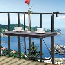 dante folding aluminum balcony table patio terrace deck railing ebay