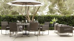 crate and barrel dining table set modern backyard decor with crate barrel outdoor dining sets high