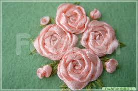 silk ribbon roses silk fairyfox