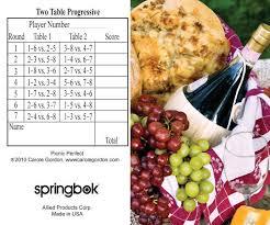 two table progressive tally picnic perfect bridge tally sheets
