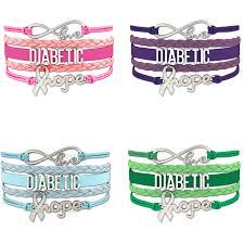 gifts for diabetics custom infinity diabetic awareness ribbon charms