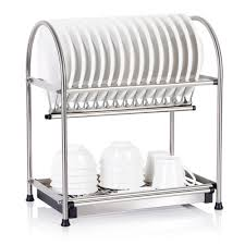 lifewit 2 tier dish drying rack dish drainer with draining tray