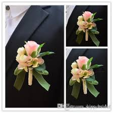 Wedding Boutonnieres Discount Pink Wedding Boutonnieres 2017 Pink Wedding