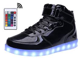 amazon com mohem shinynight high top led shoes light up usb