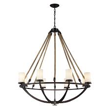 Rustic Candle Chandeliers Shop Westmore Lighting Litherland 41 In 8 Light Aged Bronze And