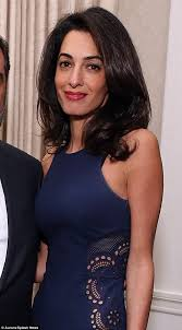 dating sites ignored  business matchmaking online network Amal chose this         midnight blue Stella McCartney dress with racy cut out