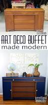 art deco buffet revived with paint u0026 stain prodigal pieces