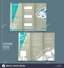 modern design for tri fold brochure template with diamond element