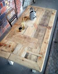 Diy Reclaimed Wood Table Top by Best 25 Door Dining Table Ideas On Pinterest Door Tables