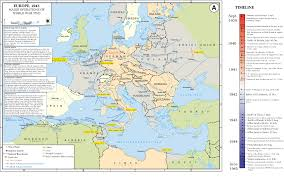 Map Of Europe 1939 by Department Of History Wwii European Theater