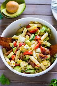pasta salad with mayo deviled egg pasta salad with avocado recipe chefdehome com